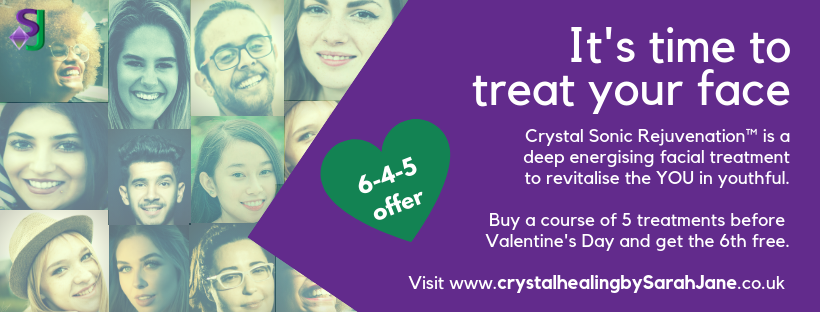 Book a course of 5 Crystal Sonic Rejuvenation™ facial treatments before Valentine's Day and get the 6th free.